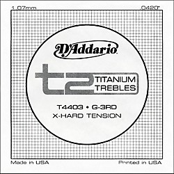 D'Addario T4403 T2 Titanium X-Hard Single String (T4403)
