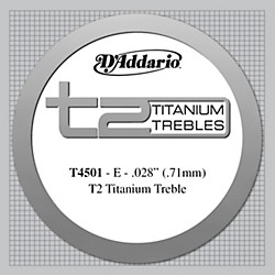 D'Addario T4501 T2 Titanium Normal Single String (T4501)