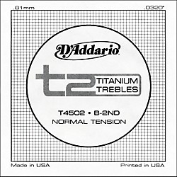 D'Addario T4502 T2 Titanium Normal Single String (T4502)