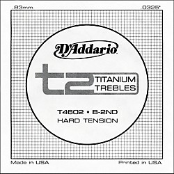 D'Addario T4602 T2 Titanium Hard Single Guitar String (T4602)