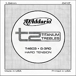 D'Addario T4603 T2 Titanium Hard Single Guitar String (T4603)