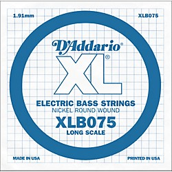 D'Addario XLB075 Extra Long Single Bass String (XLB075)