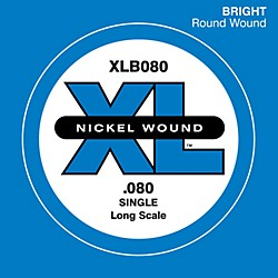 D'Addario XLB080 Nickel Wound Electric Bass Single String (XLB080)