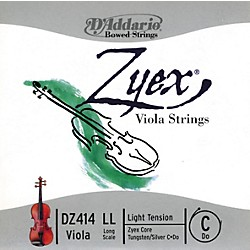 "D'Addario Zyex 16"" Plus Long Scale Viola C String (DZ414 LL)"