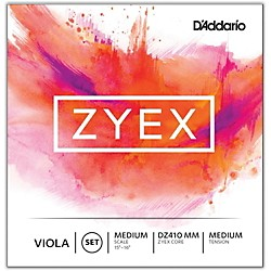 D'Addario Zyex 4/4 Viola String Set Medium Scale (DZ410 MM)