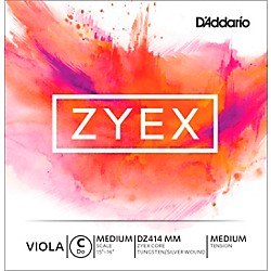 D'Addario Zyex Viola String G Medium Scale 4/4 Silver (DZ414 MM)