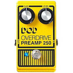 DOD Analog Overdrive Preamp 250 Guitar Effects Pedal with True-Bypass & LED (USM-DOD250-13)