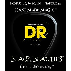 DR Strings BLACK BEAUTIES Taper Coated 4-String Bass Heavy (50-110) (BKBT-50)