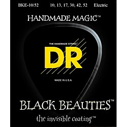 DR Strings Black Beauties Coated Electric Strings Medium-Heavy (10-52) (BKE-10/52)