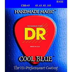 DR Strings COOL BLUE COATED 4 STRING BASS MEDIUM (45-105) (CBB-45)