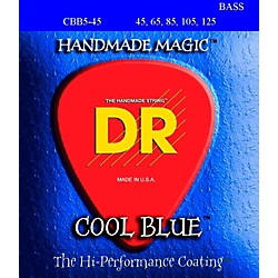 DR Strings COOL BLUE COATED 5 STRING BASS MEDIUM (45-125) (CBB5-45)