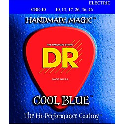 DR Strings COOL BLUE COATED ELECTRIC STRINGS MEDIUM (10-46) (CBE-10)