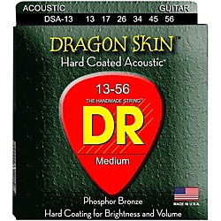 DR Strings DSA-13 Dragonskin K3 Coated Acoustic Strings Heavy (DSA-13)