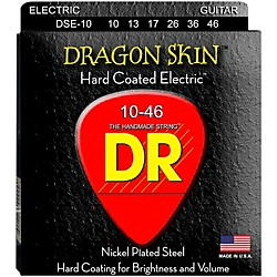 DR Strings DSE-10 Dragon Skin Coated Medium Electric Guitar Strings (DSE-10)