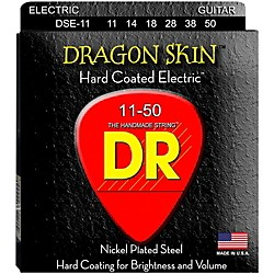 DR Strings DSE-11 Dragon Skin Coated Heavy Electric Guitar Strings (DSE-11)