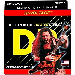 DR Strings Dimebag Darrell DBG-10/52 Medium-Heavy Hi-Voltage Electric Guitar Strings (DBG-10/52)