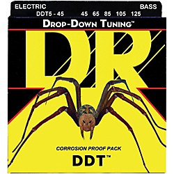 DR Strings Drop-Down Tuning 5-String Medium Bass Strings (DDT5-45)
