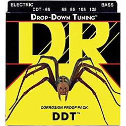 DR Strings Drop-Down Tuning Extra Heavy Bass Strings (DDT-65)