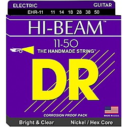 DR Strings EHR11 HiBeam Nickel Heavy Electric Guitar Strings (EHR-11)