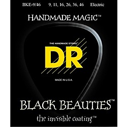 DR Strings Extra Life BKE-9/46 Black Beauties Lite-n-Heavy Coated Electric Guitar Strings (BKE-9/46)