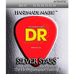 DR Strings Extra Life Silver Star SIA-12 Acoustic Strings (Sia-12)