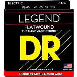 DR Strings Flatwound Legend Bass Strings Medium (FL-45)