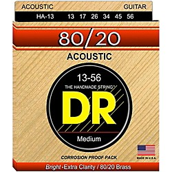 DR Strings Hi-Beam 80/20 Medium Heavy Acoustic Guitar Strings (HA-13)
