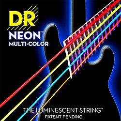 DR Strings Hi-Def NEON Multi-Color Coated Medium 6-String Bass Strings (NMCB6-30)