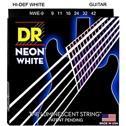 DR Strings K3 NEON Hi-Def White Electric Lite Guitar Strings (NWE-9)