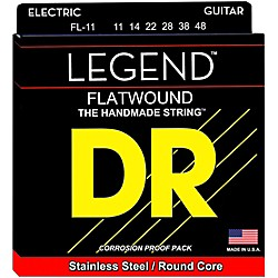 DR Strings Legend Extra Life Flatwound Electric Guitar Strings (FL-11)