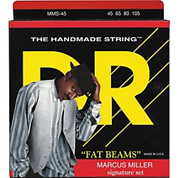 DR Strings Marcus Miller Fat Beams 4 String Bass (45, 65, 80, 105) (MMS-45)
