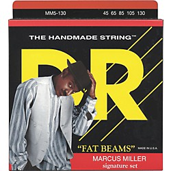 DR Strings Marcus Miller MM5-130 Fat Beams Lite 5-String Bass Strings .130 Low B (MM5-130)