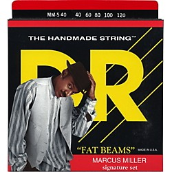 DR Strings Marcus Miller MM5-40 Fat Beams Lite 5-String Bass Strings .120 Low B (MM5-40)