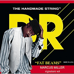 DR Strings Marcus Miller MM6-30 Fat Beams Medium 6-String Bass Strings .125 Low B (MM6-125)
