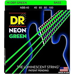 DR Strings NEON Hi-Def Green Bass SuperStrings Light 4-String (NGB-40)