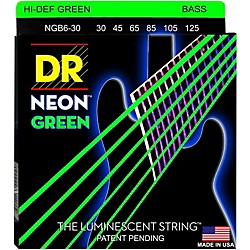 DR Strings NEON Hi-Def Green Bass SuperStrings Medium 6-String (NGB6-30)