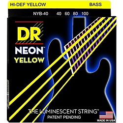 DR Strings NEON Hi-Def Yellow Bass SuperStrings Light 4-String (NYB-40)