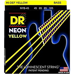 DR Strings NEON Hi-Def Yellow Bass SuperStrings Medium 4-String (NYB-45)