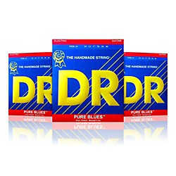 DR Strings PHR-10 Medium Pure Blues Electric Strings - Buy Two, Get One Free (PHR-103PK)