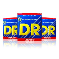 DR Strings PHR-11 Pure Blues Heavy Electric Strings -  Buy Two, Get One Free (PHR-113PK)