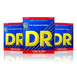 DR Strings PHR-9 Light Pure Blues Electric Strings - Buy Two, Get One Free (PHR-93PK)