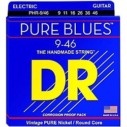 DR Strings PHR9/46 Pure Blues Nickel Lite'n'Heavy Electric Guitar Strings (PHR-9/46)