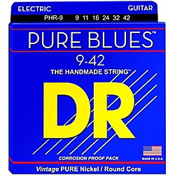 DR Strings PHR9 Pure Blues Nickel Light Electric Guitar Strings (PHR-9)