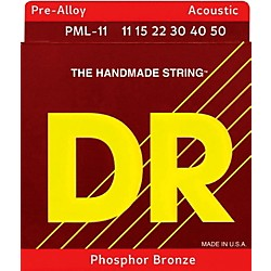 DR Strings Pre-Alloy Phosphor Bronze Acoustic Guitar Strings Medium Lite (PML-11)