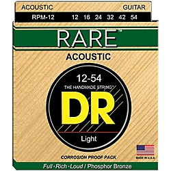 DR Strings RPM-12 RARE Phosphor Bronze Acoustic Guitar Strings (RPM-12)