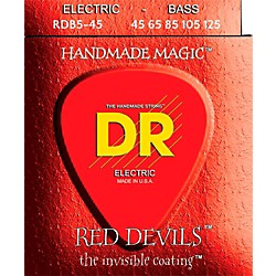 DR Strings Red Devils Medium 5-String Bass Strings (RDB5-45)
