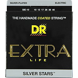 DR Strings SIE-10 Silver Stars Coated Medium Electric Guitar Strings (SIE-10)