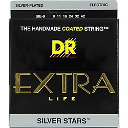 DR Strings SIE-9 Silver Stars Coated Electric Guitar Strings (SIE-9)