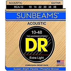 DR Strings Sunbeam Phosphor Bronze Lite Acoustic Guitar Strings (RCA-10)