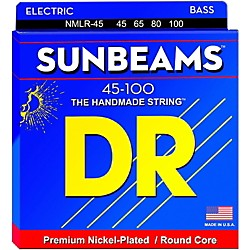 DR Strings Sunbeams NMLR-45 Medium Light 4-String Bass Strings (NMLR-45)
